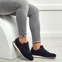 FLO Navy Blau herren Sneakers Sport Schuhe Fashion Outdoor Männer Turnschuhe Hohe Qualität Casual Atmungsaktive Schuhe Weiche Jogging Tennis herren Schuhe Sommer US POLO ASSN. MAC-in Freizeitschuhe für Herren aus Schuhe bei