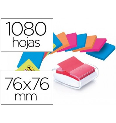 STAND STICKY NOTEPAD DETACHABLE POST-IT SUPER STICKY Z NOTES WHITE COLOR WITH 12 NOTEPAD 76X76 MM