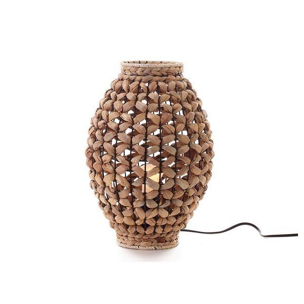 Desk Lamp (25 X 25 X 36 Cm) Water Hyacinth