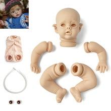 Rbg bebe kit renascer 12 polegadas kit de vinil bebê renascer flo mini elf unpainted unmounted boneca peças diy em branco reborn boneca kit