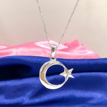 The moon the stars Custom Size Silver Men 'S Necklace Chain