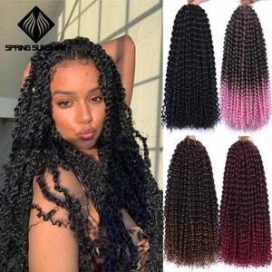 18inch Passion Twist Hair Synthetic Kinky Twist Ombre Twist Crochet Braid Hair Extension Spring Twist Hair 22strands/pack