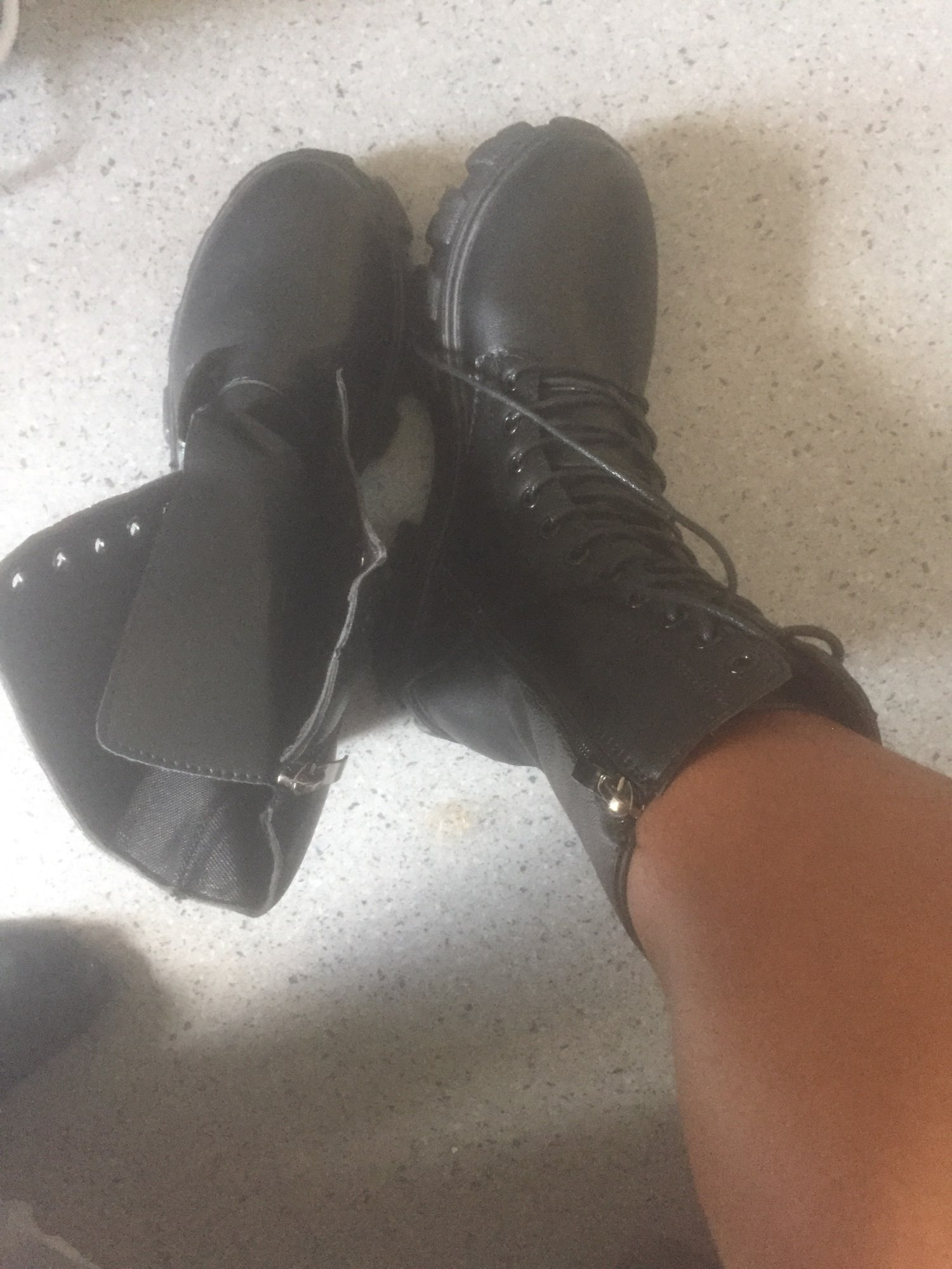 E-girl Gothic Punk Mid Calf Boots photo review