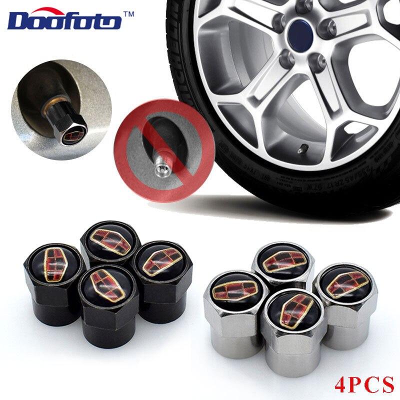 Doofato 4x tapones de válvulas de coche para Geely Emgrand X7 EC7 Atlas Boyue CK2 GC6 piezas LC accesorios de rueda neumático Stem funda protectora