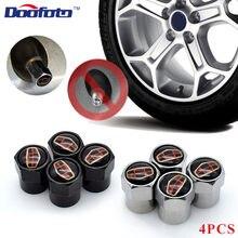 Doofoto tampas de válvula de carro 4x, acessórios gely emgrand x7 ec7 atlas boyue ck2 gc6 peças lc capa protetora em haste