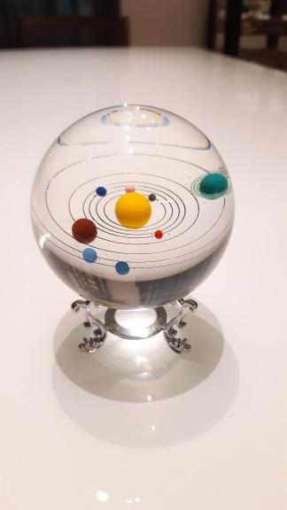 Globe en verre système solaire photo review