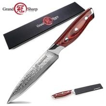 GRANDSHARP 5 אינץ סכין שירות 67 שכבות יפני דמשק נירוסטה VG 10 בישול כלים שף מטבח סכין דמשק