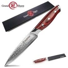 GRANDSHARP 5 Cal nóż introligatorski 67 warstw japoński Damascus VG 10 ze stali nierdzewnej narzędzia kuchenne nóż kuchenny szefa kuchni Damascus