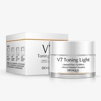 Crema hidratante para rostro bioaqua V7 hidratación profunda 50 ml