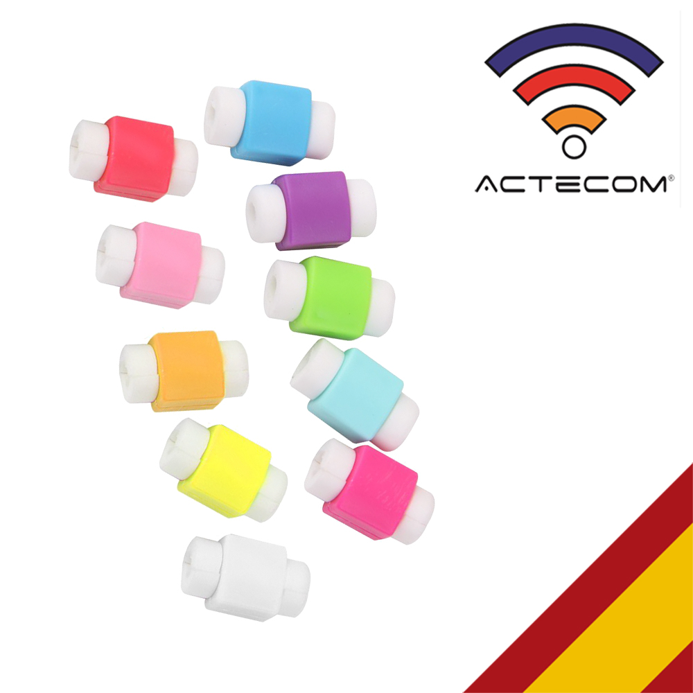 ACTECOM Protector De Cable USB (10ud/bolsa) Multicolor