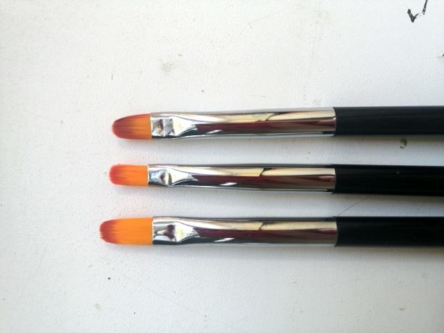 3 Size Nail Art Gold Round Top Painting Brush Set Gel Polish Tips Extending Coating 3D Petal Flower DIY Drawing Shaping Pens Kit reviews №3 39844