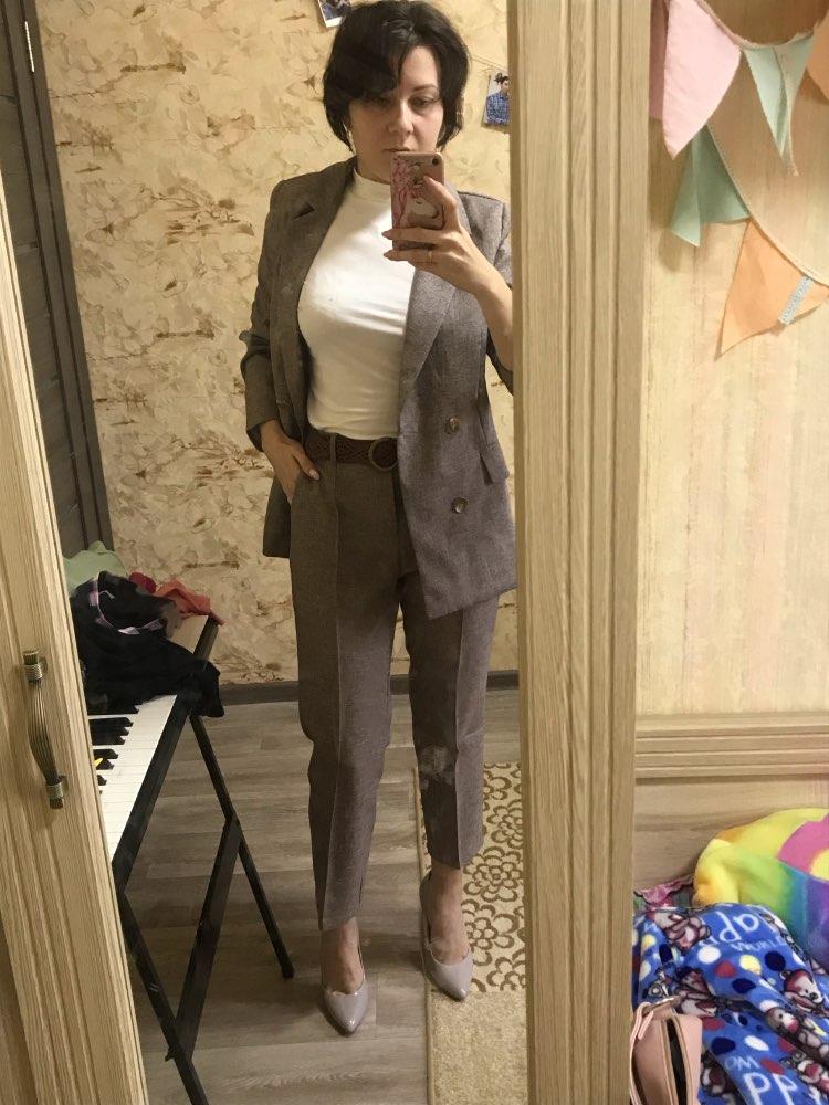 Women Suit 2 Piece Sets Casual Blazer High Waist Pant Office Lady Notched Jacket Pant Suits Femme set reviews №3 77073