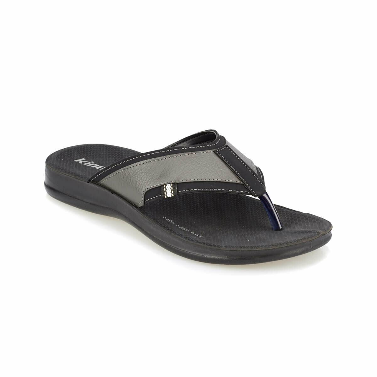 FLO ANIBAL Black Male Slippers KINETIX