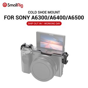 Image 1 - SmallRigรองเท้าย้ายMountสำหรับSony A6100 / A6300 / A6400 / A6500 W/2 รองเท้าเย็นสำหรับไมโครโฟนDIYตัวเลือก 2334