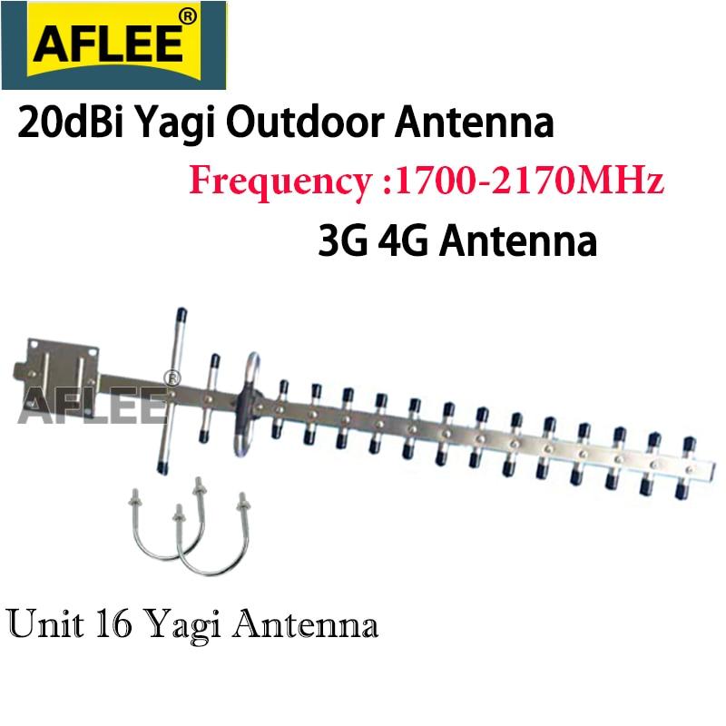3g 4g LTE Antenna 20dBi Gain 2100 3g Yagi Antenna 4g 3g 2100 1800 Outdoor Antenna 3G 4g Lte External Yagi Antenna With N Female