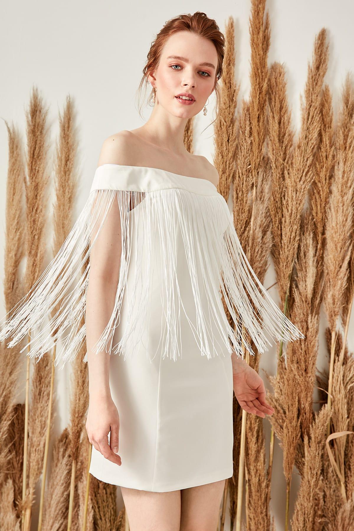 Trendyol Tassels Dress TPRSS19UZ0064