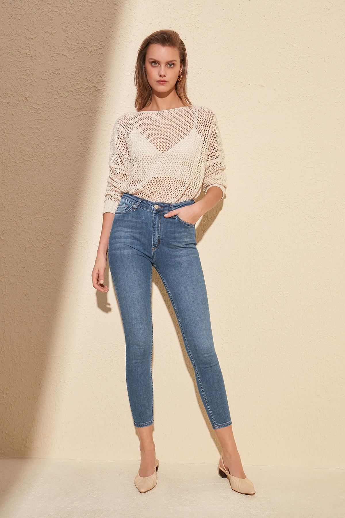 Trendyol Normal Waist Skinny Jeans TWOSS20JE0101