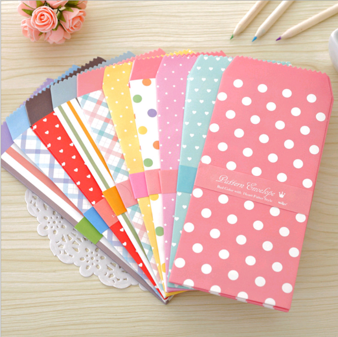 5 Pcs Creative Korean Stationery Colorful Envelope Small Gift Craft Envelopes For Letter