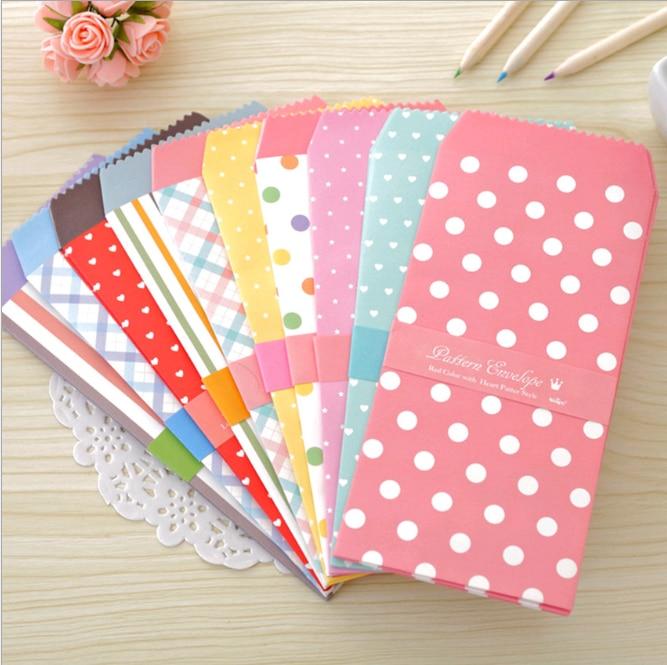 5 Pcs Creative Korean Stationery Colorful Envelope Small Gift Craft Envelopes For Letter