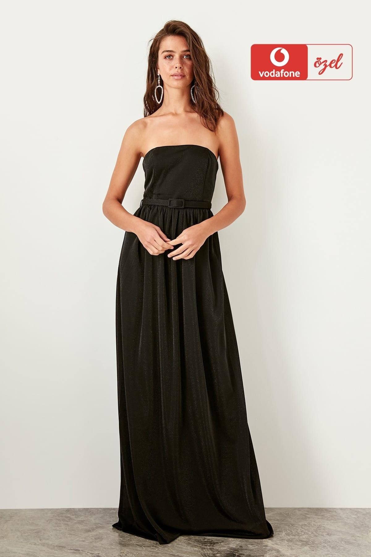 Trendyol Belt Detailed Evening Dress TPRSS19UT0047