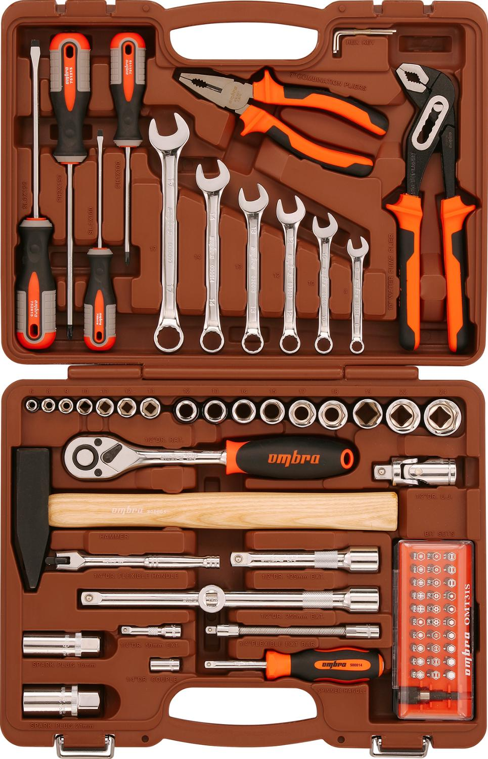 Universal tool kit Ombra OMT69S 14  12 DR 69 pieces