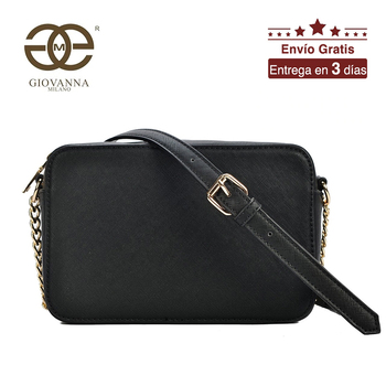 цена на Giovanna Milano women crossbody bag women messenger bag with chain strap zipper closure PU luxury famous brand design T10271