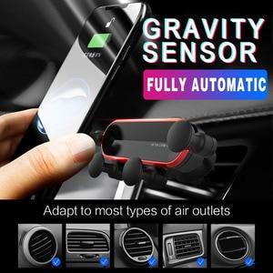 Gravity uchwyt samochodowy na telefon samochodowy uchwyt samochodowy na powietrze do iPhone 8 X XS Max Samsung Xiaomi uchwyt na telefon komórkowy stojak uniwersalny