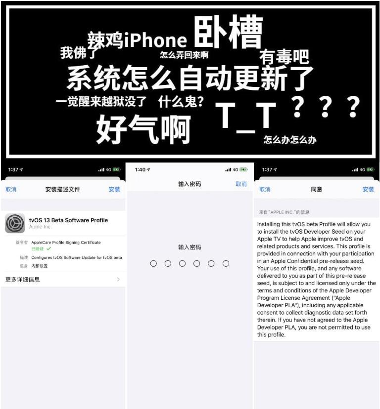 苹果IOS13屏蔽自动更新方法