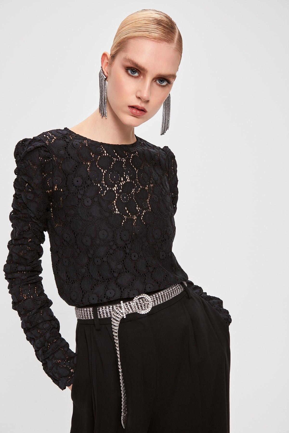 Trendyol Lace Detail Bluz TPRAW20BZ0950