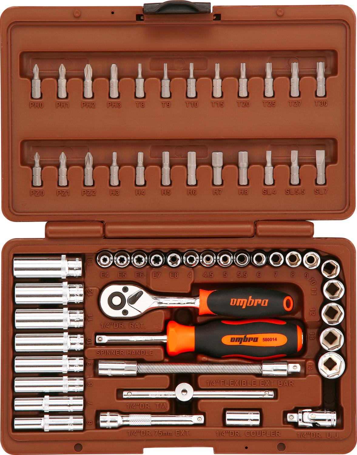 Universal tool kit Ombra OMT57S 14 DR 57 items