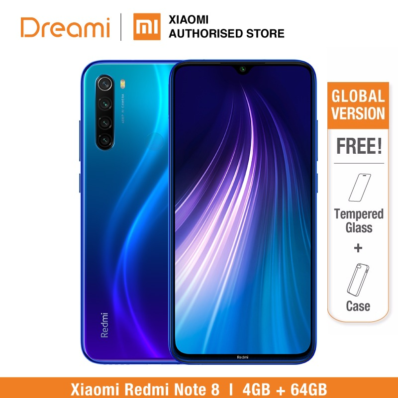 <font><b>Global</b></font> Version <font><b>Redmi</b></font> <font><b>Note</b></font> <font><b>8</b></font> <font><b>64GB</b></font> ROM <font><b>4GB</b></font> RAM (Brand New and Sealed), note8 <font><b>64gb</b></font> Smartphone Mobile image