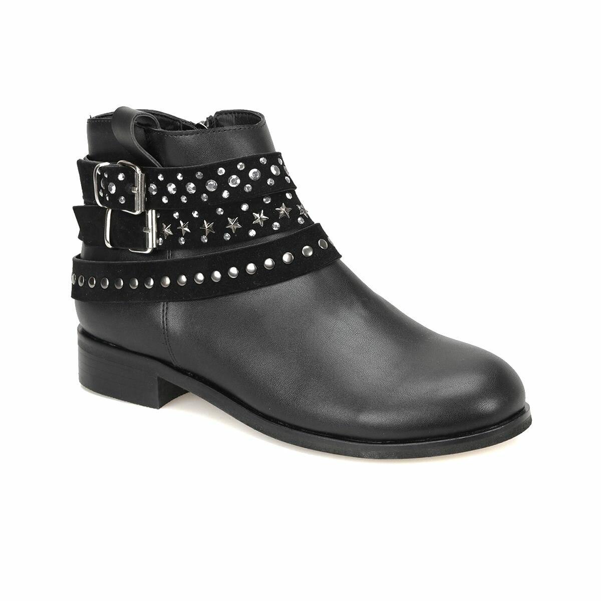 فلو 18K-195 أحذية نسائية سوداء بوتيجو