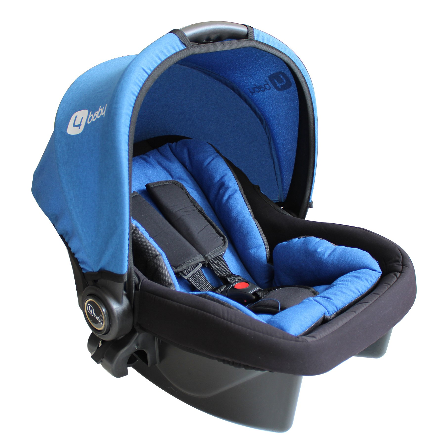 Four Baby Blue Prams