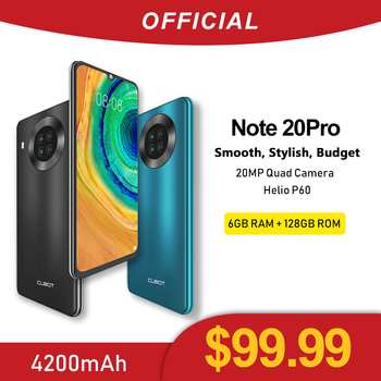 Cubot Note 20 Pro Quad Camera Smartphone NFC 6GB+128GB 6.5 Inch 4200mAh Android 10 Dual SIM Telephone 4G LTE celular Note20 Pro