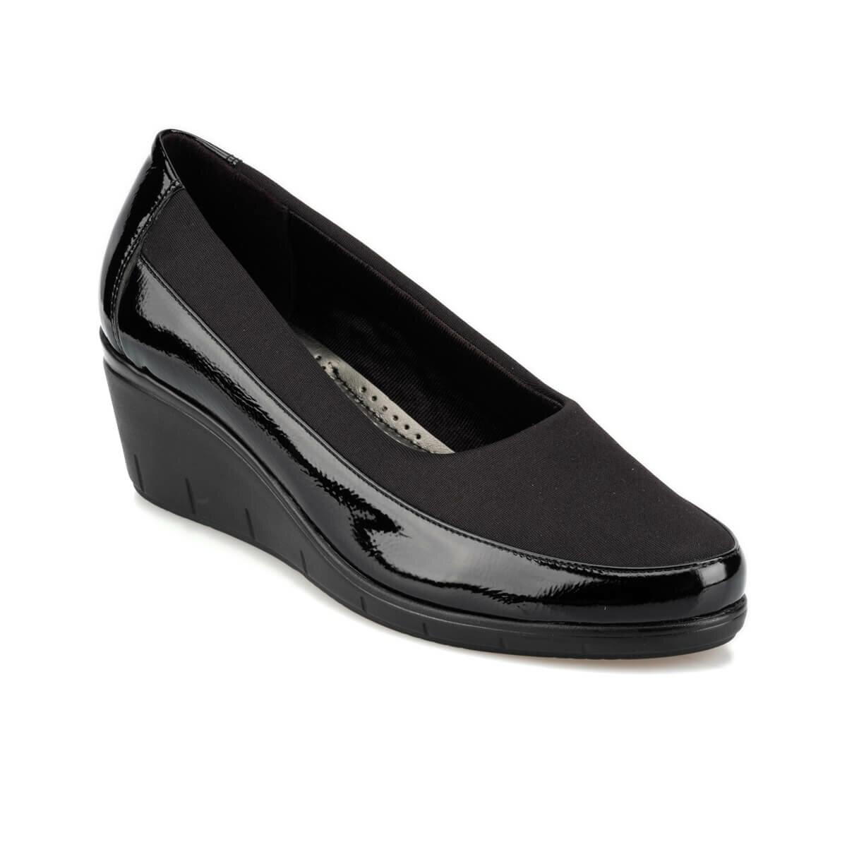 FLO 92.151043RZ Black Women 'S Wedges Shoes Polaris
