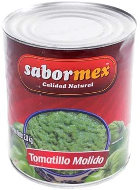 Savormex ground green Tomatillo 2,8 kg Mexican tomato in can big green tomato for traditional Mexica