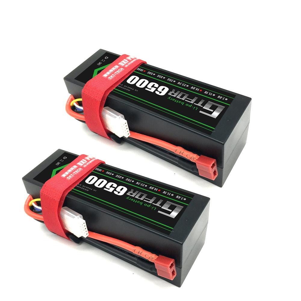 GTFDR Battery <font><b>Lipo</b></font> <font><b>2S</b></font> 4s 7.4V 14.8V <font><b>5200mah</b></font> 7000mah 6500mAh 45C 60C 100C MAX 200C Hard Case For 1:8 1:10 RC Buggy Truggy Car image