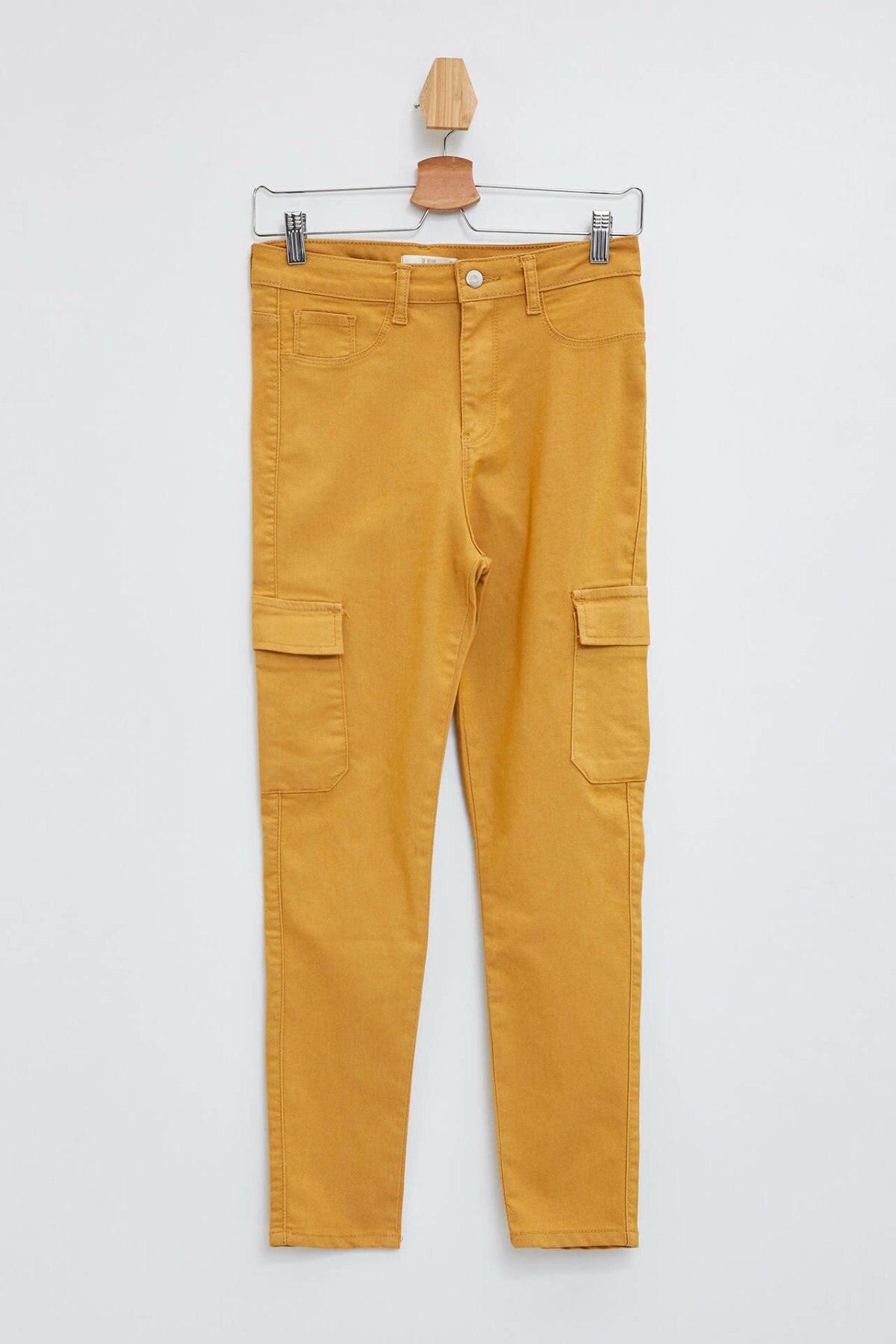 DeFacto Fashion Woman Solid Trousers Lady Casual Pocket Slim Candy Color Leisure Long Pencil Pants Female Autumn-L4153AZ19AU