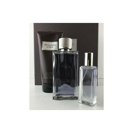 ABERCROMBIE FITCH FIRST INSTINCT MAN 100ML EDT + EDT 15ML + HAIR & BODY WASH 200ML