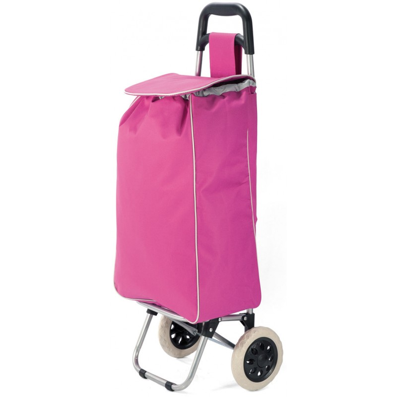 Market for polyester folding shopping trolley cart with wheels lightweight and foldable, material hidrofobo dry rapido