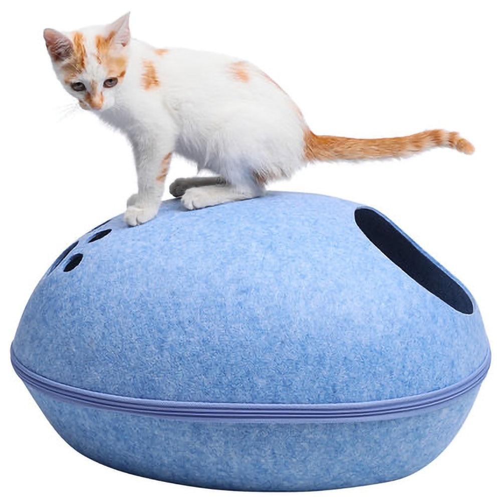 Домик для кошки, фетровая кровать для кошки, строительный спальный мешок на молнии, подстилка для домашних животных
