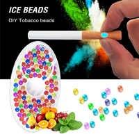 Cápsulas de sabores de frutas variadas para cigarrillo, recipiente con filtro, herramienta para fumar, sabor a menta, 100 Uds.
