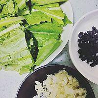 豆豉油麦菜的做法图解1