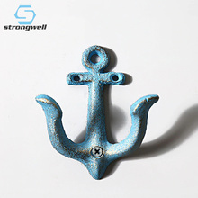 Anchor Model Iron Ornament Wall Decoration Home Resin Accessories Furnishing Craft Hook