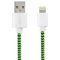 USB na kabel ze świecącą końcówką KSIX Sport 1 m zielony czarny w Ładowarki do tabletów od Komputer i biuro na
