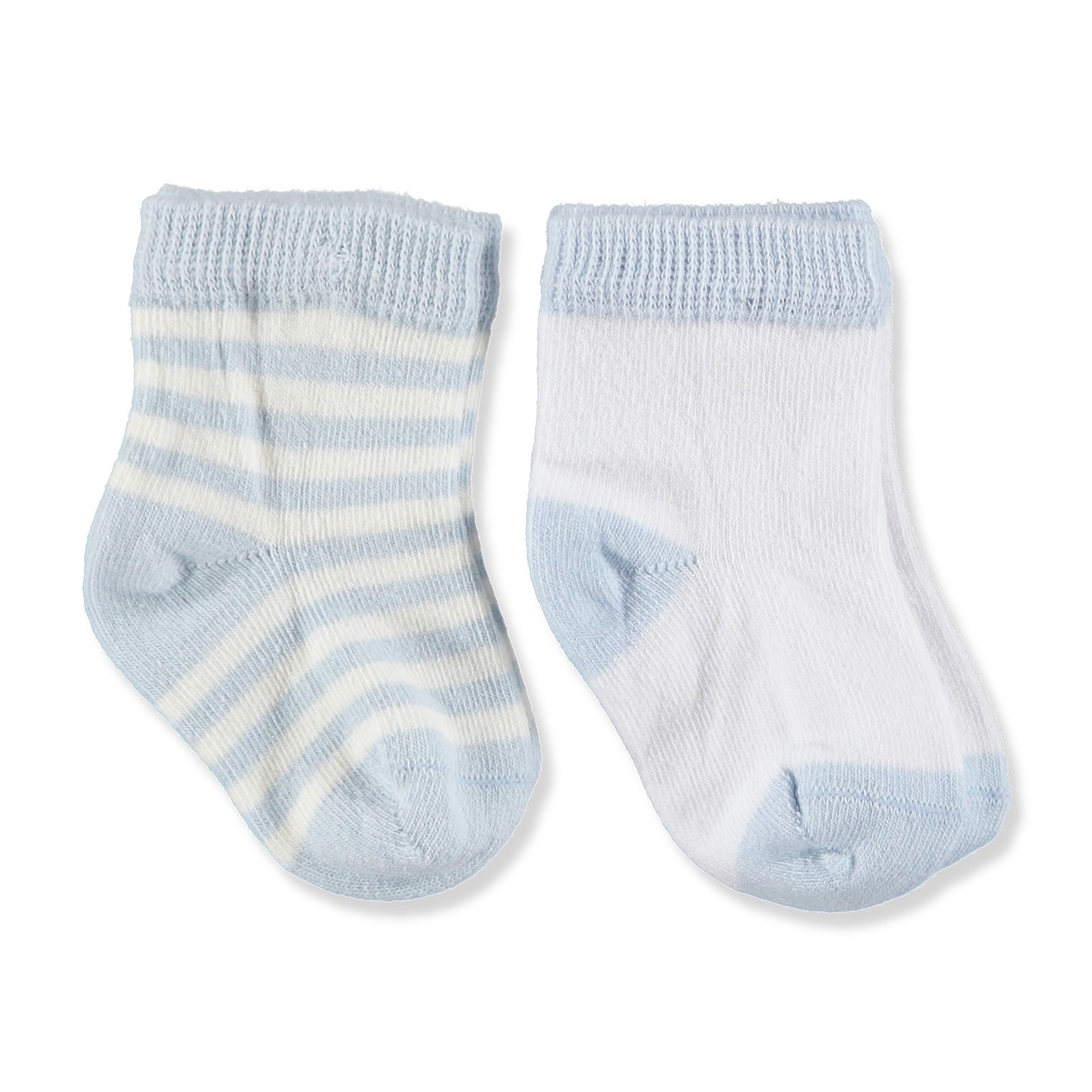 Ebebek Step 2 Pack Baby Socks Organic Boy