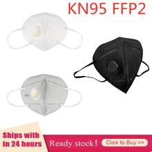 2 100 pçs reutilizável kn95 dustproof respirável rosto mascarillas boca máscara protetora poeira ffp2 ffp3 respirador transporte rápido