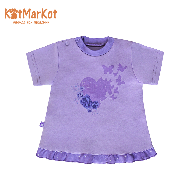 T-Shirts Kotmarkot 7796  for children t-short Jersey tee shirt baby clothes Cotton Baby Girls Casual Floral