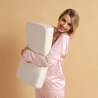 Orthopedic pillow with memory plus memory effect (60*40*13 cm) ecosapiens, pillow for sleep, 2 rolls, memory effect