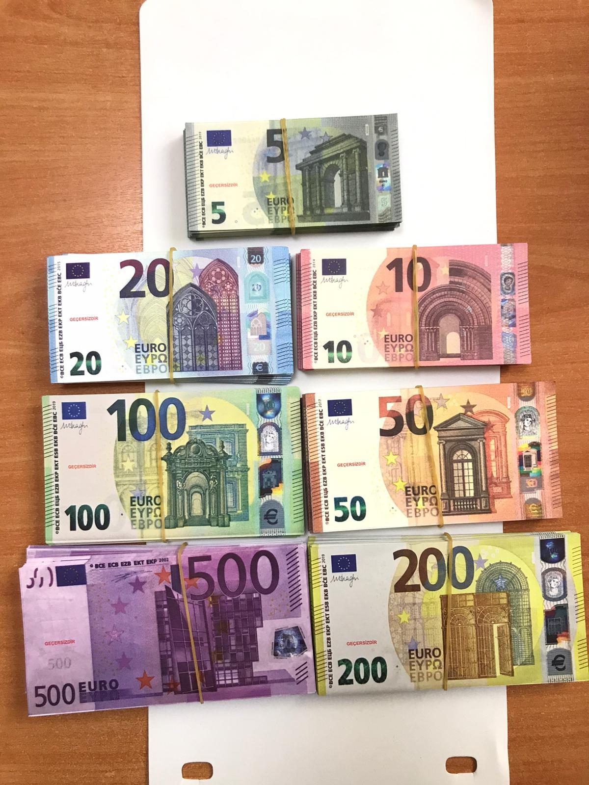 Супер банкнота реальный размер 100 шт 10/20/50/100/200/500 евро доллар английский Стерлинговое Серебро клипса Свадебные ювелирные изделия для монопо...